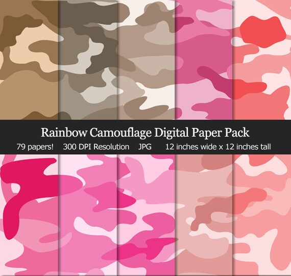 picture about Camo Printable called Rainbow Camo Camouflage Electronic Paper Pack - Purple Camo, Navy Camo, Brown Camouflage, Sbook, Heritage, Printable, Business Hire Okay
