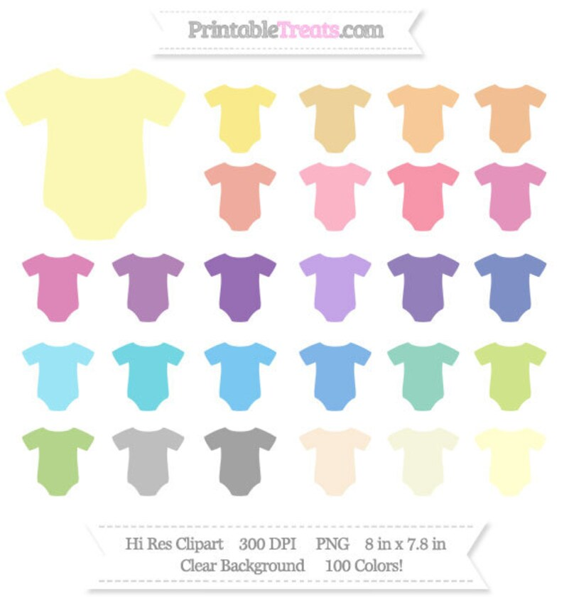 Giant Baby Onesies Clipart Pack