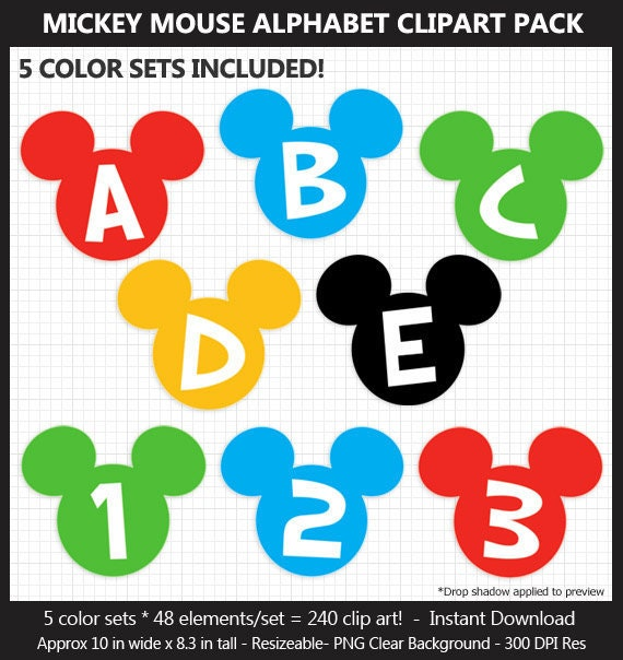 photograph regarding Large Printable Letters for Banners named Big Mickey Mouse Alphabet Clipart - Letters, Quantities, Punctuation, Disney, Mouse Ears, Birthday Indicator, Banner, Heavy, Printable, CUOK