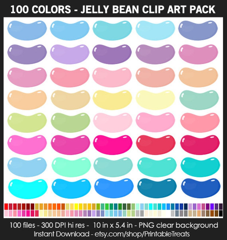 52f9fec80616b Giant Jelly Bean Clipart 100 Colors Candy Candy Shoppe