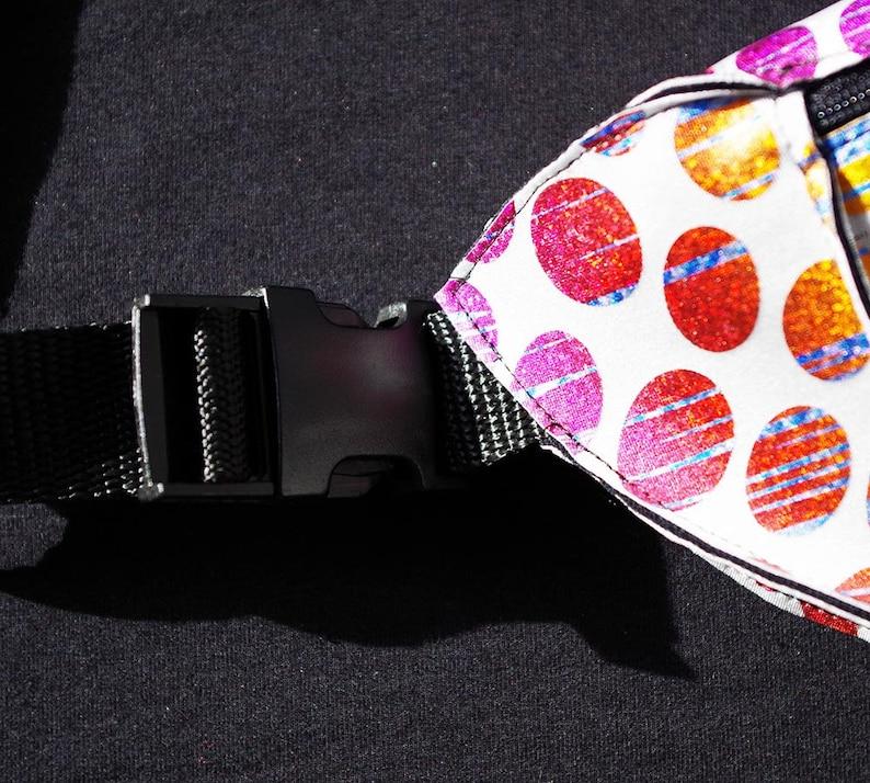 Fanny Pack Rainbow Psychedelic Festival Burning Man Retro Bum Bag