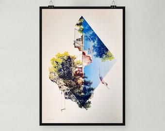 Risograph artprint 'Free'