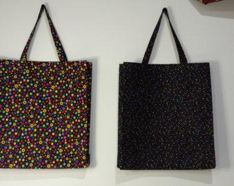 Colorful Tote Bag,  Reversible Tote Bag, Handmade Tote Bag, Lined Tote Bag, Beach Bag, Large Tote Bag, Fabric Tote Bag, Tote Bag