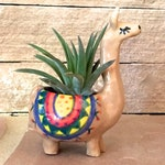 Llama Mini Air Plant Holder ceramic desk decor office air plant pot alpaca lover gift handmade planter gift for teen mom daughter