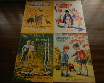 The Children's Friend Magazine ~ June, July, Aug & Sept. 1958 ~ Primary Program Ages 3 - 12