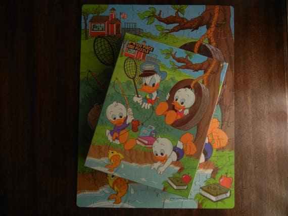 Or Jigsaw Puzzle ~ Walt Disney Huey, Dewey et Louie ~ 1986 ~ complet