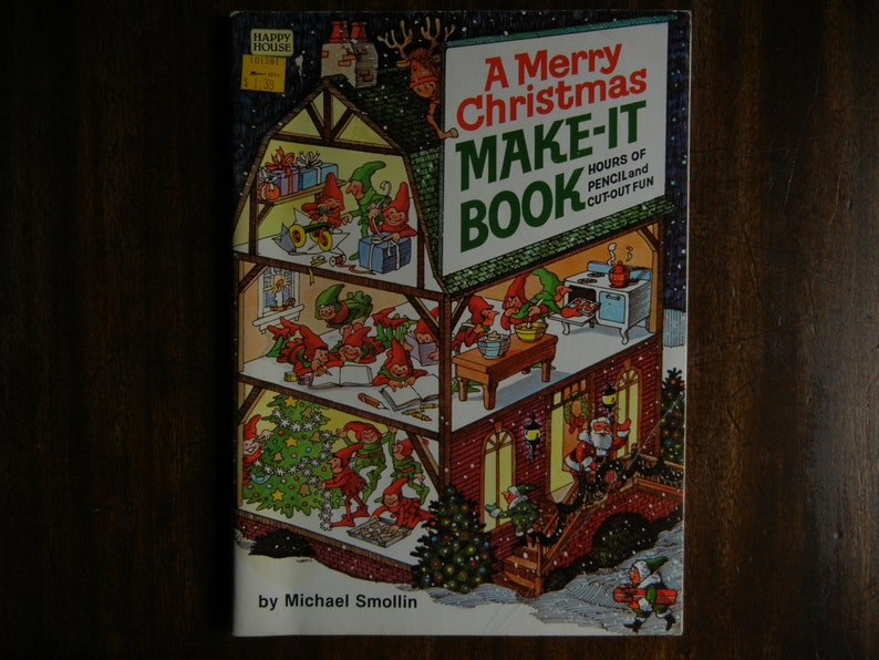 A Merry Christmas Make-It Book by Michael Smollin  1981  New image 0