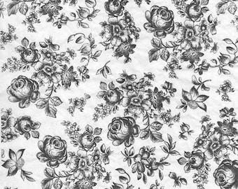Ceramic Decal, Underglaze Transfer - flower 09