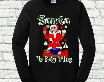 hip hop christmas sweater etsy