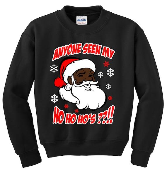 Where My Ho Ho Ho/'s At Lady/'s Tee Ugly Sweatshirt Santa Xmas Christmas