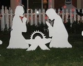White silhoutte Nativity ...