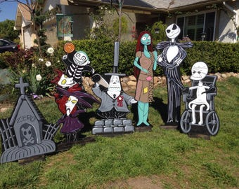 Nightmare Before Christmas Lawn Decorations Etsy