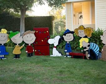Charlie brown christmas yard art   Etsy
