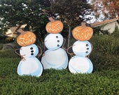 Pumpkin Head Snowmen...