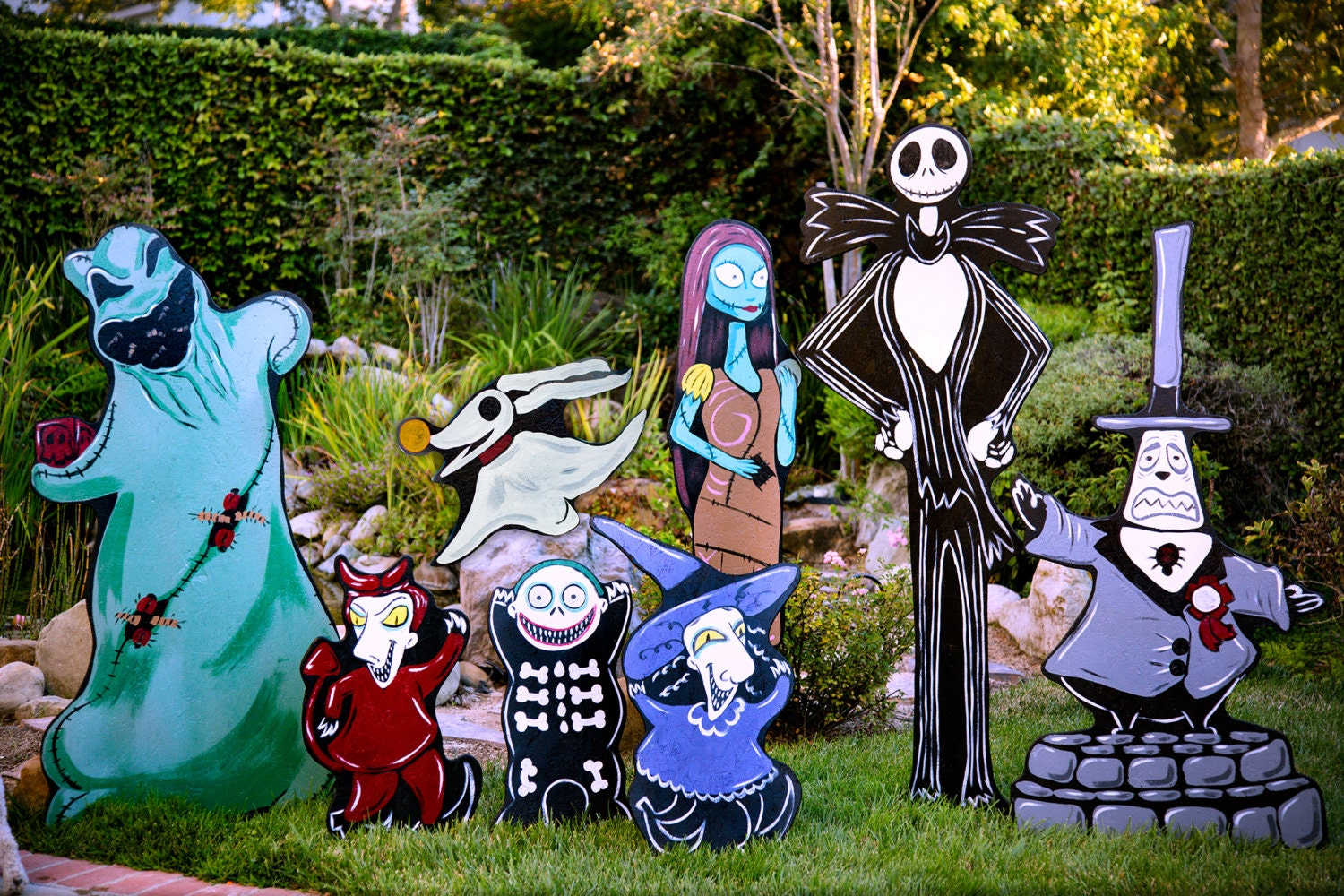 Nightmare Before Christmas Lawn decorations | Etsy