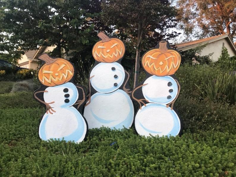 Pumpkin Head Snowmen image 0