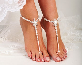 a5b1223af682fc Starfish Beaded Barefoot Sandals