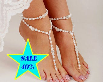 01df85dc1 Beach wedding barefoot sandals