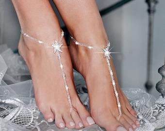 52f14cae0 Starfish Beaded Barefoot Sandals