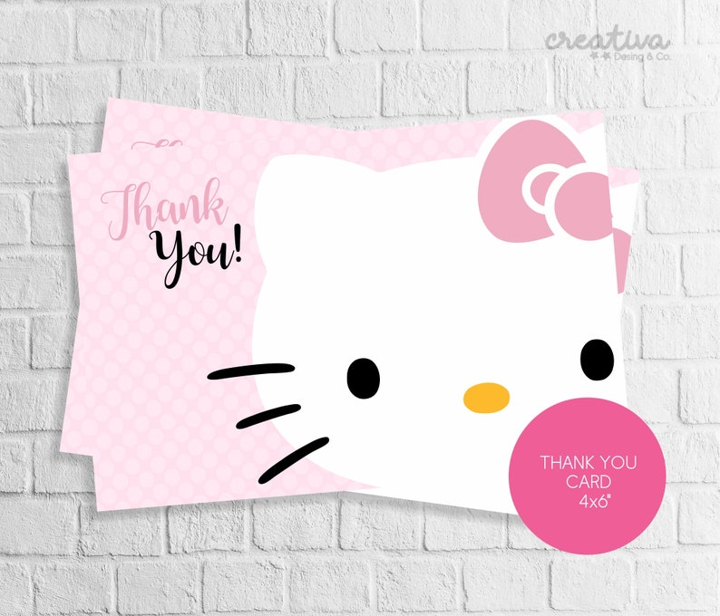 graphic about Kitty Printable titled Hi Thank By yourself Card. Kitty Printable, Electronic Absolutely free,Imprimible PDF, Fast Obtain