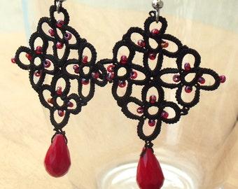 Turkish OYA Lace - Earring - Rhombus WINTER *4 colors