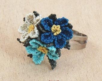 Turkish OYA Lace - Ring - Plumeria  *4 colors