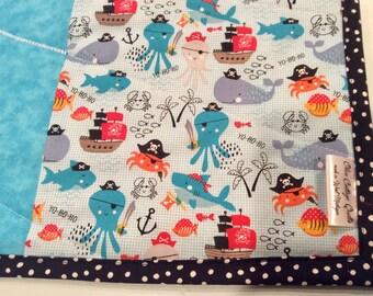 Plush Minky Baby Blanket Gorgeous Shark Sharktooth Ocean Monochrome Tribal Baby Blanket Featuring Cotton and a Satin Ruffled Edge