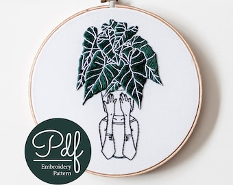 Florence in the Jungle - Embroidery pattern - PDF Digital Download - Brynn&Co and The Mint Gardener