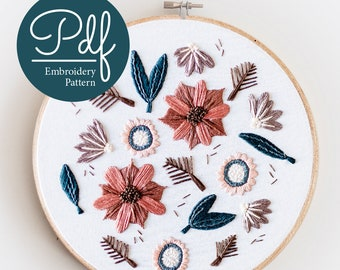 Falls Melody - Embroidery pattern - PDF Digital Download