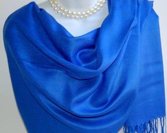 6f1119b4495 Blue silk shawl   Etsy
