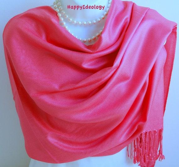 a15160e0b31 Pink Pashmina Scarf.Dark Rose Pink Pashmina/Shawl.Spring/Summer  Scarves.Wedding Wrap/Shawl.Bridesmaid Gift.Evening Wrap.