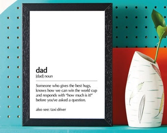 Dad definition • Fathers Day - Birthday - Gift