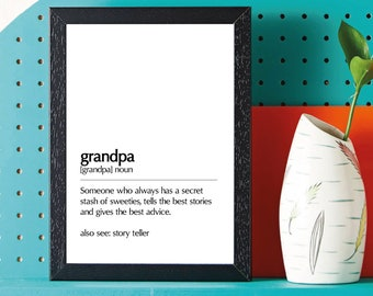 Grandpa definition • Fathers Day - Birthday - Gift