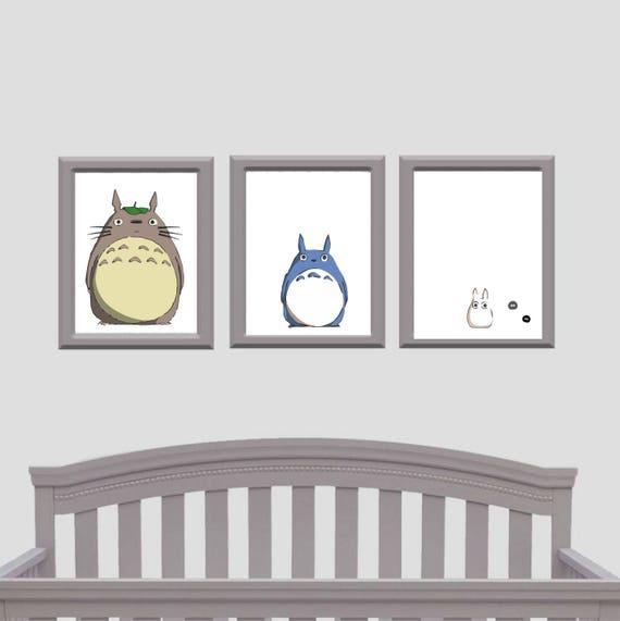 My Neighbour Totoro - Set of three prints - Nursery Set