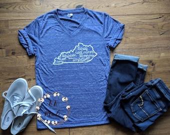 Kentucky shirt, Kentucky girl shirt, wildcats shirt, Kentucky t-shirt, Southern t-shirt, the bluegrass state shirt, state of Kentucky tshirt
