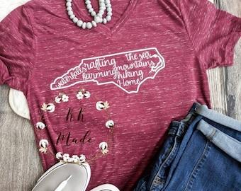 North Carolina shirt, home state shirt, this is home shirt, North Carolina gift, North Carolina t-shirt gift, home state gift, NC shirt