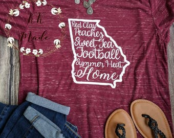 Georgia shirt, Georgia girl shirt, Atlanta shirt, Georgia t-shirt, Southern t-shirt, the peach state shirt, state of Georgia t-shirt