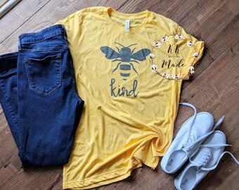 Bee shirt, bee kind shirt, teacher shirt, teacher gift, kindness shirt, Bee Kind T-shirt, bee kind tee, bee shirts, Bella canvas unisex bee
