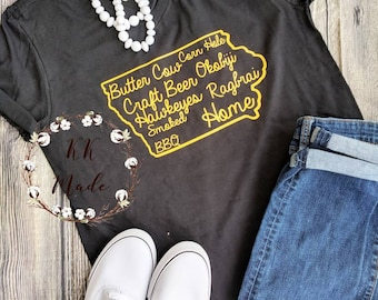 Home state shirt, iowa shirt, custom state shirt, Iowa home shirt, this is home shirt, home sweet home shirt,Iowa pride shirt, butter cow