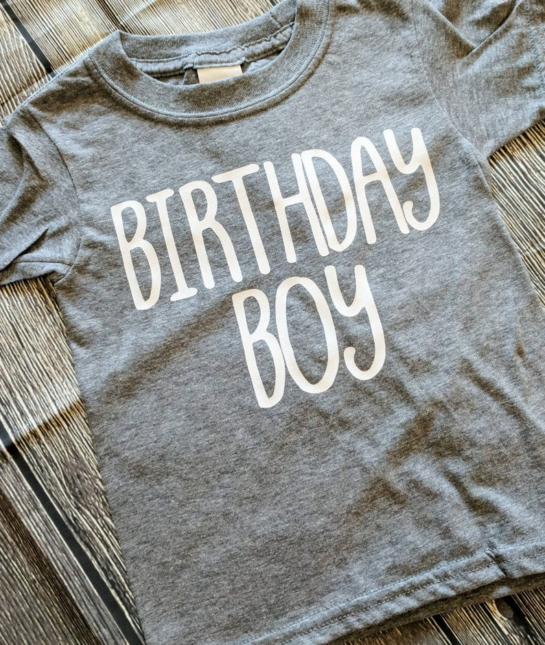 Birthday Boy Shirt Boys First