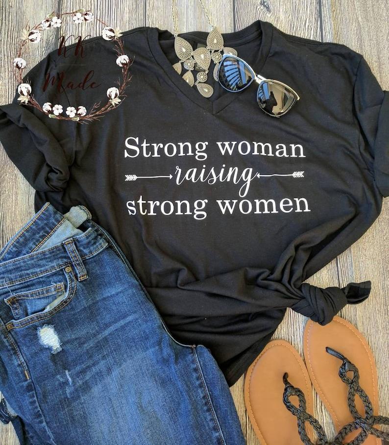 Mom of girls shirt girl mom shirt raising girls shirt image 0