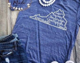 Home state shirt, Virginia shirt, custom state shirt, virginia home shirt, boardwalk shirt, this is home shirt, home sweet home shirt