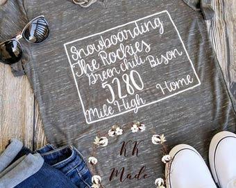 Home state shirt, Colorado shirt, custom state shirt, Colorado home shirt, Colorado gift, this is home shirt, home sweet home shirt