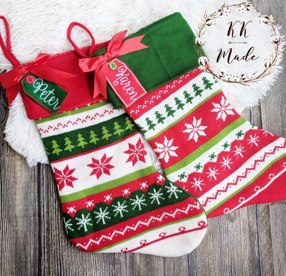 Christmas Stocking Custom Christmas Stockings Embroidered Christmas Stockings Personalized Christmas Stockings Family Christmas Stocking