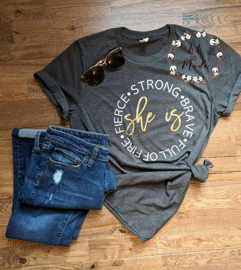 caec7aa97 Strong woman shirt strong women shirt feminist shirt nasty | Etsy