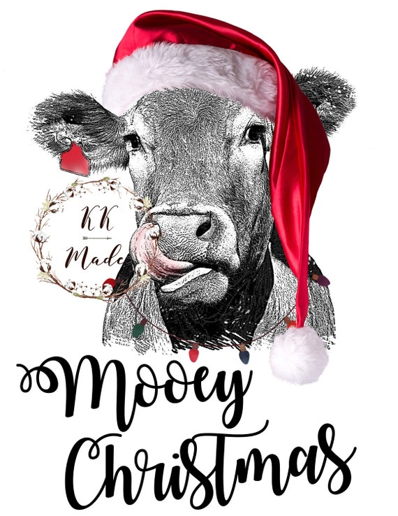 Christmas Cow.Mooey Christmas Cow Sublimation Transfer Tshirt Transfer Funny Christmas Sublimation Transfer Cow Sublimation Transfer