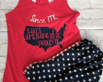 Womens fourth of July shirt, fourth of july shirt, memorial day tank, patriotic shirt, fourth of july racerback, memorial day, merica shirt
