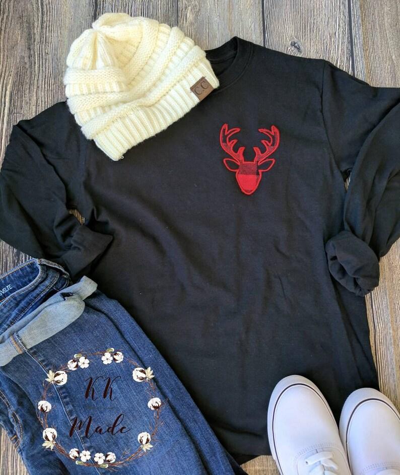 Women's Christmas shirts women's Buffalo plaid shirt image 0