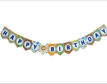 "Baby Safari ""Happy Birthday"" Banner, 8-ft (Printed on Banana Paper!)"