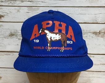 bd730cd1 Vintage 90's APHA World Championships snapback baseball hat Horse horseback  riding horse racing snap back cap hat true vintage